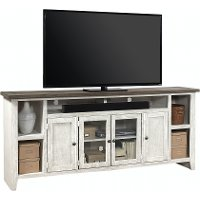 Rustic White 84  TV Stand - Eastport