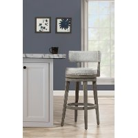 4840-826P Gray Swivel Counter Height Stool - Lawton