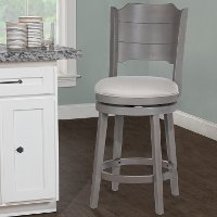 4541-826 Farmhouse Gray Swivel Counter Height Stool - Clarion