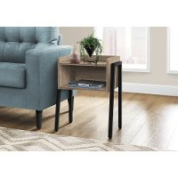 Contemporary Black and Taupe End Table - Mavis