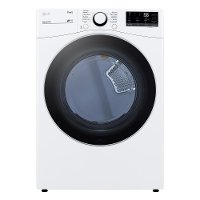 DLG3601W LG Ultra Large Capacity Smart Front Load Gas Dryer with Built-In Intelligence - 7.4 cu. ft. White