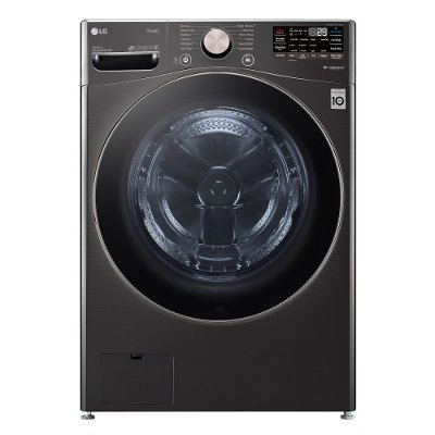 WM4000HBA LG Large Capacity Smart Front Load Washer with TurboWash 360° and WiFi - 4.5 cu. ft. Black Steel