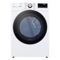 DLGX4001W Ultra Large Capacity Smart Front Load Gas Dryer with TurboSteam™ and Built-In Intelligence - 7.4 cu. ft. White