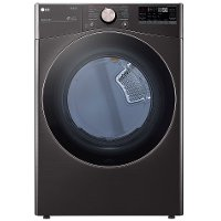 DLGX4001B LG Smart Front Load Gas Dryer with TurboSteam and Built-In Intelligence - 7.4 cu. ft. Black Steel