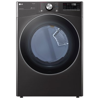DLEX4200B LG Ultra Large Capacity Smart Electric Front Load Dryer - 7.4 cu. ft. Black Stainless Steel