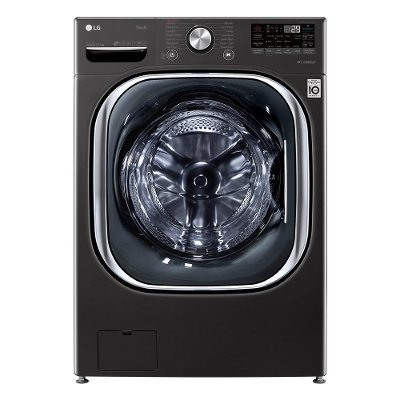 WM4500HBA LG Mega Capacity Smart Front Load Washer with Built-In Intelligence - 5.0 cu. ft. Black Steel