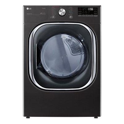 DLEX4500B LG Smart Front Load Dryer with TurboSteam and Built-In Intelligence - 7.4 cu. ft. Black Steel