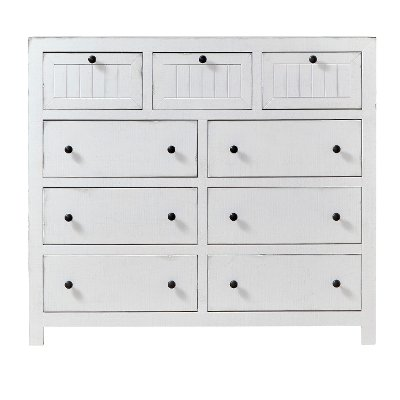 Cottage White Dresser - Sea Breeze