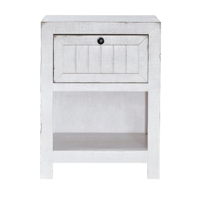 Cottage White Nightstand - Sea Breeze