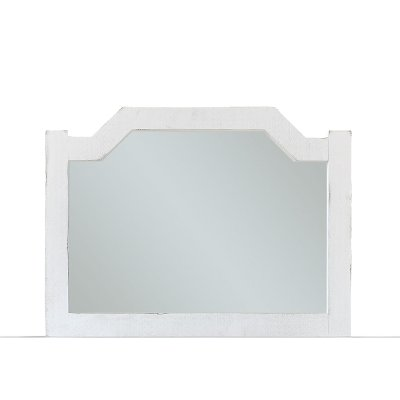 Cottage White Mirror - Sea Breeze