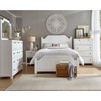 Cottage White 4 Piece King Bedroom Set - Sea Breeze