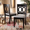 162-10524-RCW Contemporary Upholstered Dark Brown and Gray Dining Room Chair (Set of 2) - Delano