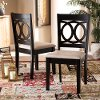 162-10523-RCW Contemporary Upholstered Dark Brown and Sand Upholstered Dining Room Chair (Set of 2) - Delano