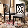 162-10528-RCW Contemporary Dark Brown and Gray Upholstered Dining Room Chair (Set of 2) - Cody
