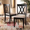 162-10527-RCW Contemporary Dark Brown and Sand Upholstered Dining Room Chair (Set of 2) - Cody