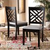 162-10526-RCW Contemporary Dark Brown and Gray Upholstered Dining Room Chair (Set of 2) - Aubrie