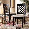 162-10525-RCW Contemporary Dark Brown and Sand Upholstered Dining Room Chair (Set of 2) - Aubrie