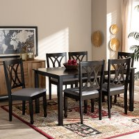 162-9404-10528-10519-RCW Contemporary Dark Brown 7 Piece Dining Room Set - Cody