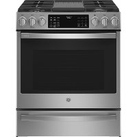 PGS930YPFS GE Profile 30 Inch Slide In Smart Gas Range with Convection - 5.3 cu. ft. Fingerprint Resistant Stainless Steel