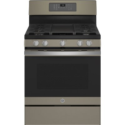 JGB735EPES GE 30 Inch Gas Range with Convection and Air Fry - 5 cu. ft. Slate