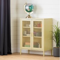 13077 Yellow 2-Door Accent Cabinet- Crea