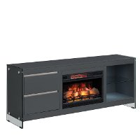 Modern Minimalist Electric Fireplace TV Console