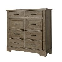 172-004 Rustic Stone Gray Linen Chest - Rustic Trail