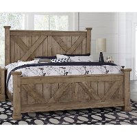 Rustic Stone Gray Queen Bed - Rustic Trail