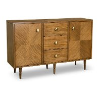 Natural Brown Dining Room Sideboard - Modern Eclectic