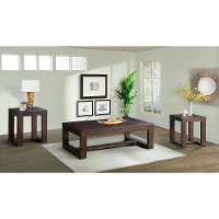 Rustic Cherry Brown Occasional Table 3 Pack - Hardy