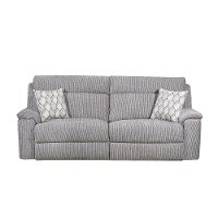 Silver Contemporary Reclining Sofa - Warwick