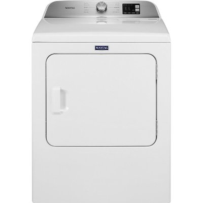 MED6200KW Maytag Top Load Electric Dryer with IntelliDry - White 7.0 cu. ft.