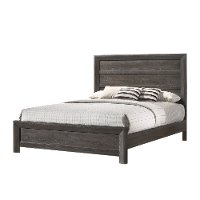 Rustic Contemporary Charcoal Gray Twin Bed - Adelaide