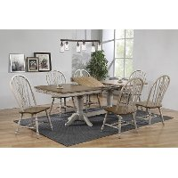 Farmhouse Gray Two Tone 7 Piece Dining Room Set - Kristiann
