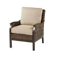 Wicker Ash Patio Lounge Chair - Trenton