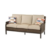 Ash Wicker Patio Sofa - Trenton