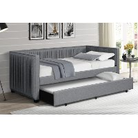 Modern Gray Twin Daybed with Trundle - Emery