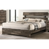 Rustic Contemporary Gray Full Size Bed - Alix