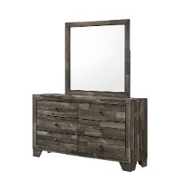 Rustic Contemporary Gray Youth Dresser - Alix