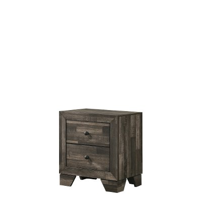 Rustic Contemporary Gray Youth Nightstand - Alix
