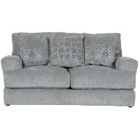 Contemporary Shark Gray Loveseat - Lamar