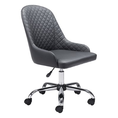 Brown Armless Office Chair Space Rc, Armless Office Chair