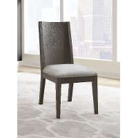 Modern Gray Upholstered Dining Room Chair - Plata