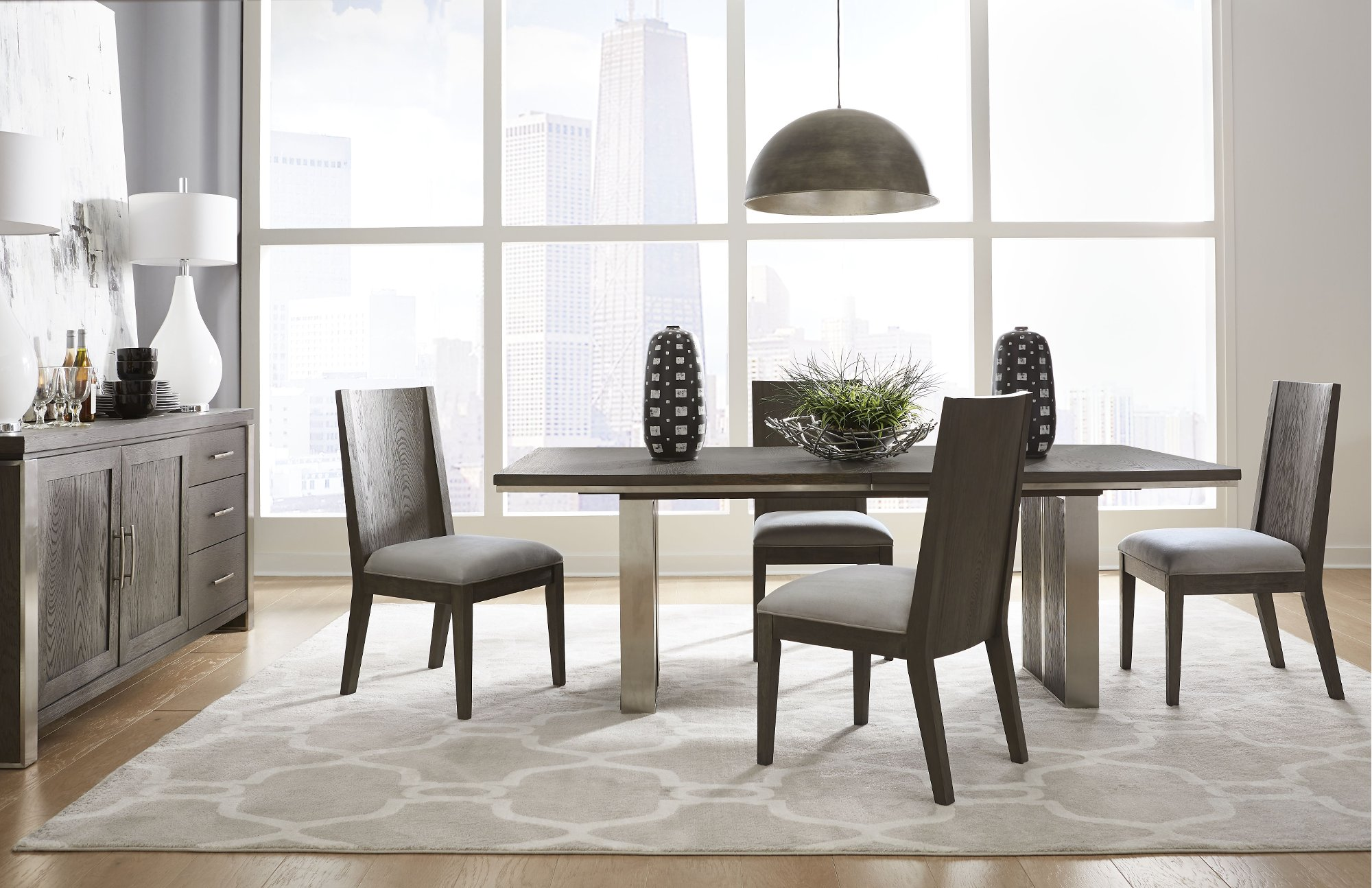 Modern Gray 9 Piece Dining Room Set   Plata   AccuWeather Shop