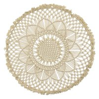 Round Off White Macrame Wall Hanging