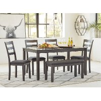 Contemporary 6 Piece Dining Room Set - Bridson