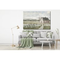 Farming Serenity Hand Embellished Canvas Wall Art