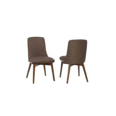 Mid Century Modern Brown Upholstered Dining Room Chair - Santana