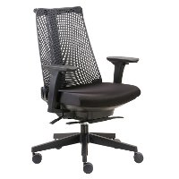 Contemporary Black Mesh High-back Office Chair - Boss