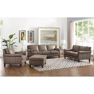 Living Room Sets In The Furniture, Leather Living Room Groupings